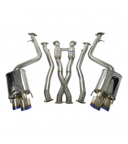 Invidia Q300 Cat-Back Exhaust w/ Rolled Titanium Tips