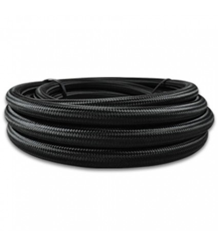 Vibrant -12 AN Nylon Braided Flex Hose Black 2 FT