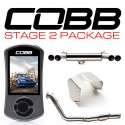 COBB Tuning Stage 2 Power Package SS DownPipe With Resonated CatBack - Subaru STI Hatch