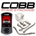 COBB Tuning Stage 2 Power Package TurboBack Titanium Exhaust - Subaru STI