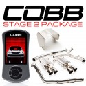 COBB Tuning Stage 2 Power Package SS DownPipe with CatBack - Subaru STI