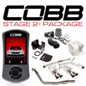 COBB Tuning Stage 2+ Power Package SS TurboBack W/ Intake (Stealth Black) for Subaru STI