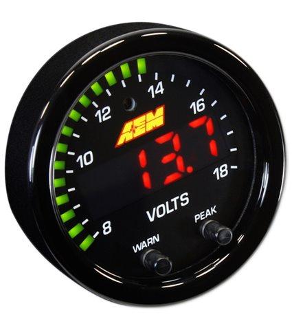 AEM X-Series Volt Gauge - 8-18V