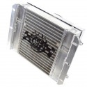 CSF Dual Fluid Oil Cooler w/9in SPAL Fan