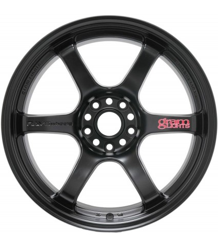 Gram Lights 57DR 18x9.5 5x114.3 +38 Offset - Semi-Gloss Black