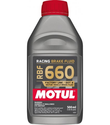 Motul RBF660 Synthetic Racing DOT 4 Brake Fluid - 500ml
