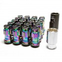 Project Kics R40 Iconix 12x1.25 Lug Nuts Neo Chrome Locking
