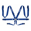 Sparco 6-Point 3in Pull Up Harness - Blue