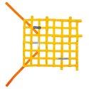 Sparco FIA Window Net - Yellow