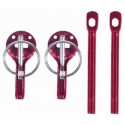 Sparco Hood Pin - Red