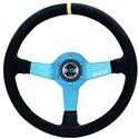 Sparco Monza L550 Steering Wheel - Suede Black/Blue