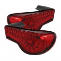Spyder LED Sequential Signal Tail Lights - Red