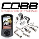 COBB Stage 2+ Big SF Power Package Non-Resonated J-Pipe - 6MT - Titanium