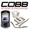 COBB Stage 2 Power Package w/ Turbo-Back - Titanium