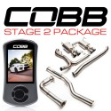 COBB Stage 2 Power Package w/ Resonated J-Pipe - 6MT - Titanium