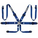 Sparco 6-Point HANS 3in-to-2in Aluminum Pull-Up Harness - Blue