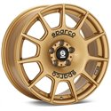 Sparco Terra - 17x7.5 +45 5x114.3 - Rally Gold / Black