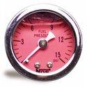 NOS Fuel Pressure Liquid Filled Gauge - 1.50in / 0-15 PSI / Red