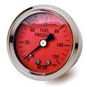 NOS Fuel Pressure Liquid Filled Gauge - 1.50in / 0-120 PSI / Red