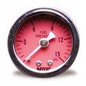 NOS Fuel Pressure Gauge - 1.50in / 0-15 PSI / Red