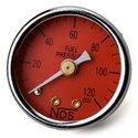 NOS Fuel Pressure Gauge - 1.50in / 0-120 PSI / Red