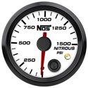 NOS Nitrous Pressure Gauge w/ Sending Unit - 52mm / 0-1500 PSI / White