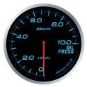 Defi Advance BF Blue Oil Pressure Gauge - Metric / 60mm