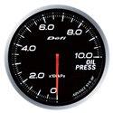 Defi Advance BF White Oil Pressure Gauge - Metric / 60mm