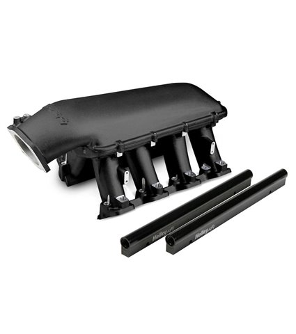 Holley Hi-Ram Manifold Kit w/ Single Rails - Black - GM LS3 / L92