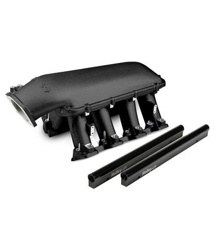 Holley Hi-Ram Manifold Kit w/ Single Rails for 105mm Throttle Body - Black - GM LS1 / LS2 / LS6