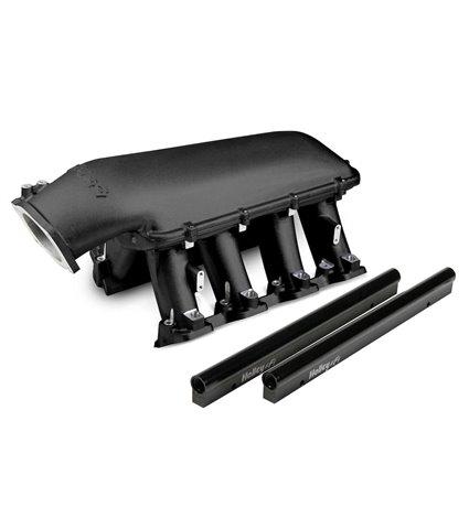Holley Hi-Ram Manifold Kit w/ Single Rails for 92mm Throttle Body - Black - GM LS7